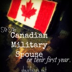 To The Military Spouse on the First Year